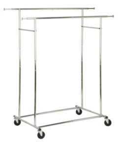 Honey-Can-Do Dual Bar Adjustable Garment Rack