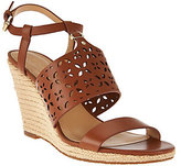 MICHAEL Michael Kors Darci Leather Wedge Sandals