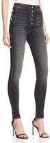 J Brand Natasha Sky High Skinny Jeans in Anthracite