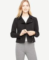 Ann Taylor Petite Twill Moto Jacket