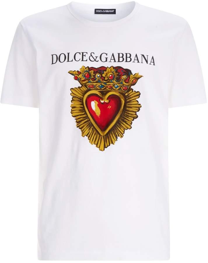 Dolce & Gabbana Heart Print T-Shirt