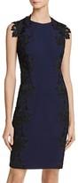 Betsey Johnson Lace-Trim Sheath Dress