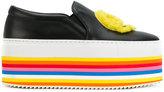 Joshua Sanders striped platform loafers