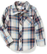 Old Navy Plaid Pocket Shirt for Toddler Boys