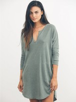 Junk Food Clothing Stray Heart 3/4 Henley Dress-can-l