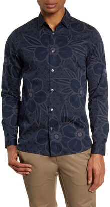 Ted Baker Gogirl Slim Fit Floral Button-Up Shirt