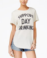 Junk Food Clothing Support Day Drinking Cotton Graphic T-Shirt
