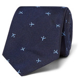 Paul Smith 6.5cm Embroidered Silk-Faille Tie