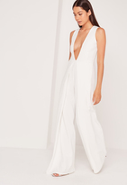 Missguided Crepe Origami Detail Romper White