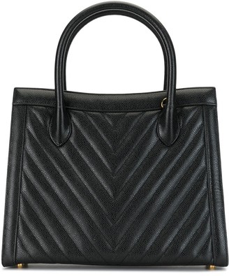Chanel Pre Owned 1992 Chevron quilt tote