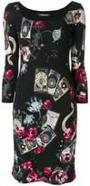 Roberto Cavalli Mystic Garden print dress