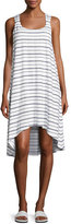 Heidi Klein Nassau Striped Twist-Back Dress, White