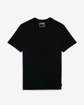 Express Slim Solid Moisture-Wicking Crew Neck T-Shirt