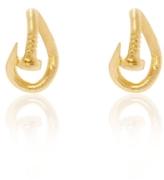 David Webb Hammered Gold Nail Earrings