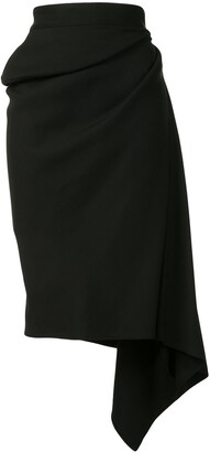 Maticevski High-Rise Draped Skirt
