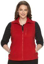 Chaps Plus Size Solid Fleece Vest