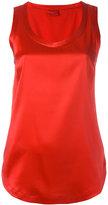 Brunello Cucinelli scoop neck tank top - women - Silk/Spandex/Elastane - M
