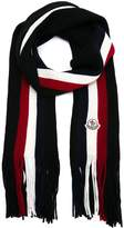 Scarf With Logo And Central Stripes