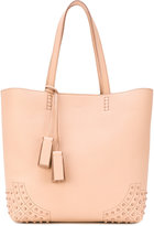 Tod's embossed detailing shopping bag - women - Leather - One Size