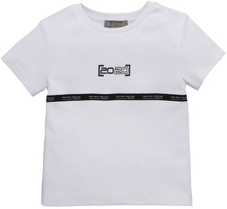 River Island Mini Boys Chest Tape T-Shirt -White