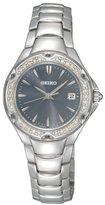 Seiko Women's SXDC51 Crystal Sporty Dress Light Blue Dial Watch