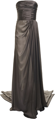 Alexandre Vauthier Draped Silk Strapless Gown