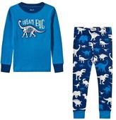 Hatley Blue Dream Big Dinosaur Applique Pyjamas