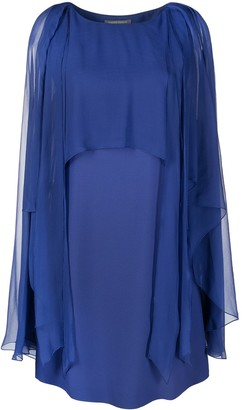 Alberta Ferretti Tulle Layer Midi Dress