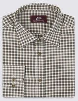 Marks and Spencer Pure Cotton Twill Checked Shirt