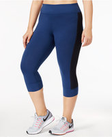 Ideology Plus Size Performance Cropped Leggings, Only at Macy's