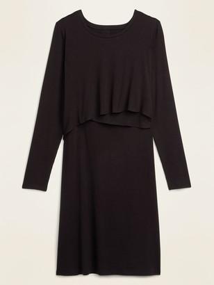 Old Navy Maternity Rib-Knit Cross-Front Nursing Dress