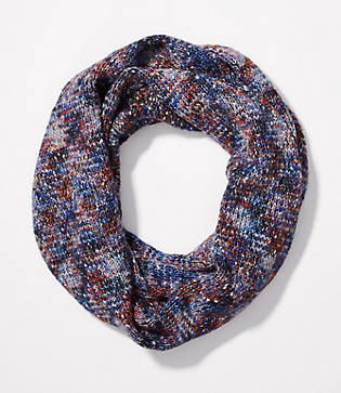 LOFT Shimmer Marled Infinity Scarf