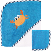 Luvable Friends Turquoise Crab Hooded Towel & Washcloth