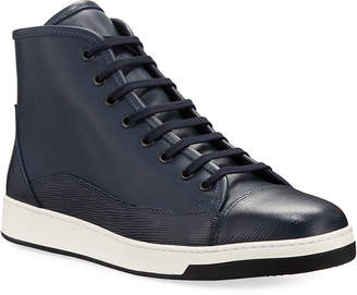 Bugatchi Livorno High-Top Leather Court Sneakers