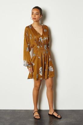 Karen Millen Sketch Floral Short Dress