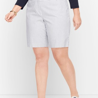 "Talbots Perfect Shorts - 9"" - Railroad Stripe"