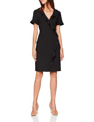 French Connection Women's ALIANOR Stretch VNCK Frill DRS Dress