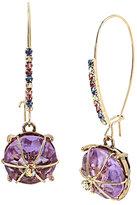 Betsey Johnson Sweet Shop Hard Candy Purple Earrings