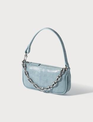 BY FAR Mini Rachel Lizard Embossed Leather Bag