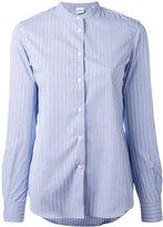 Aspesi grandad collar striped shirt