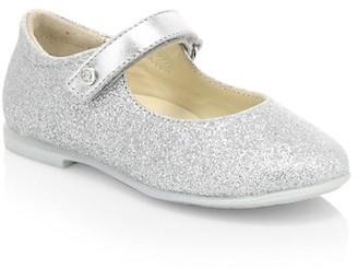 Naturino Little Girl's & Girl's Darling Glitter Leather Mary Jane Flats