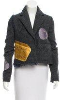 Acne Studios Fringe-Accented Embellished Blazer