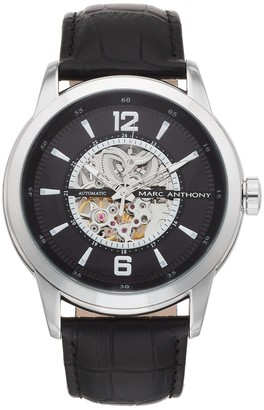 Marc Anthony Men's Baldwyn Automatic Skeleton Watch