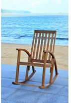 Safavieh Clayton Brown Finish Acacia Wood Rocking Chair
