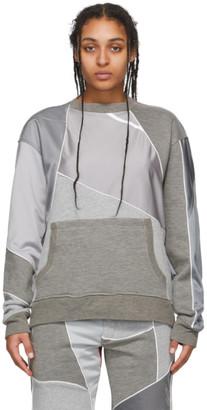 Ahluwalia Grey Patchwork Crewneck Sweatshirt
