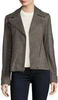 T Tahari Leather Biker Jacket