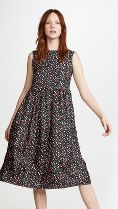Marni Sleeveless Floral Midi Dress