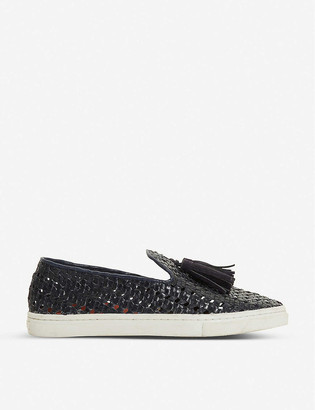 Bertie Edenna tassel-embellished leather trainers