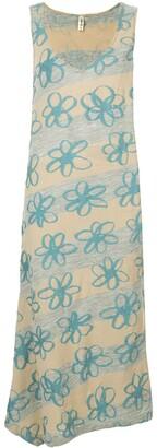 Comme Des Garçons Pre-Owned Dropped Armhole Floral Dress
