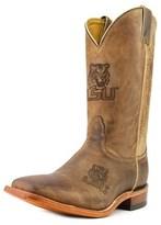 Nocona Men's Lsu 12 Men Square Toe Leather Brown Western Boot.